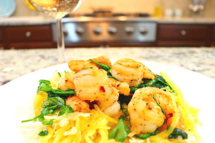 Spaghetti Squash with Shrimp-2